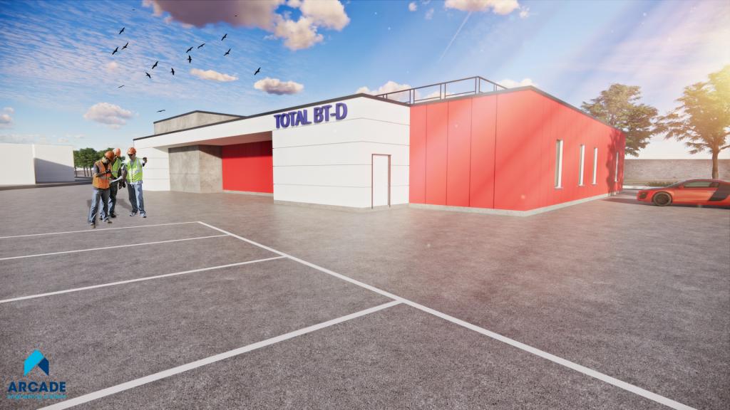 Blast-resistant productiegebouwen Total